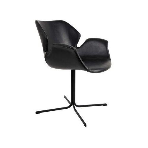 fotel nikki cały czarny 1200139 marki Zuiver