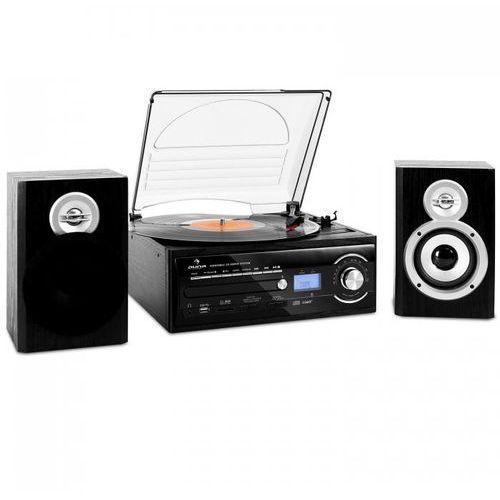 Auna Tt-190 wieża stereo gramofon mp3-nagrywanie cd sd usb