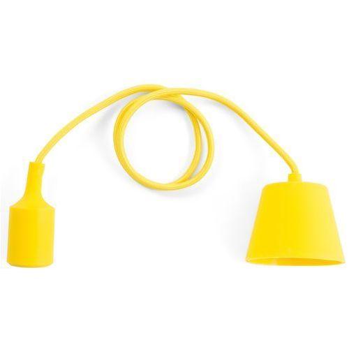 Beliani Lampa wisząca żółta silikonowa araks