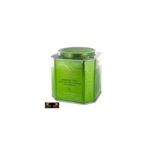 Harney & sons Herbata - green tea with coconut, ginger and vanilla, puszka piramidki 30 szt.