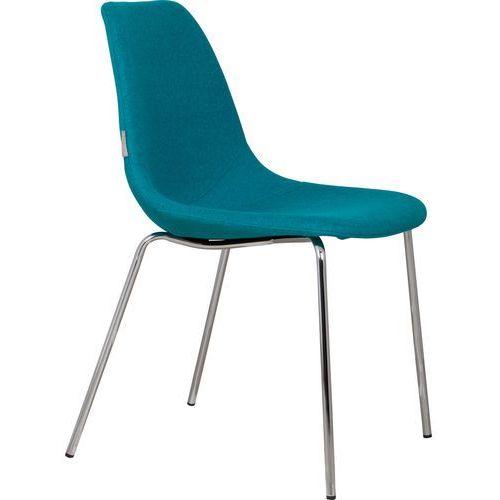 Zuiver Krzesło FIFTEEN UP chromowane/niebieskie 1100214, 1100214
