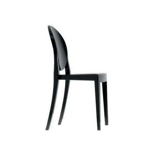 Kartell Krzesło victoria ghost nieprzeźroczyste lśniąca czerń