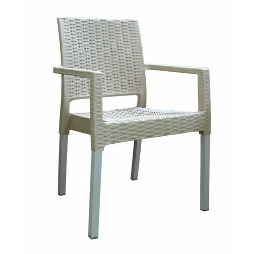 Mega plast krzesło mp692 ratan lux, kremowe (8606006429498)