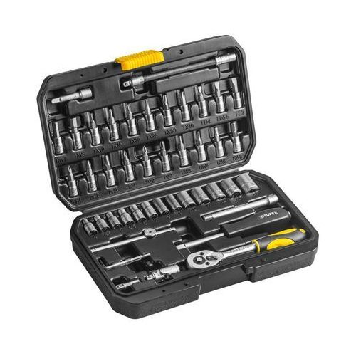 Zestaw kluczy nasadowych TOPEX 38D640 1/4 cala (46 elementów), T 38D640