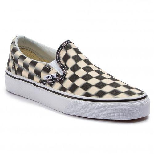 Vans Buty classic slip on blur check black/classic white rozmiar 42/27cm