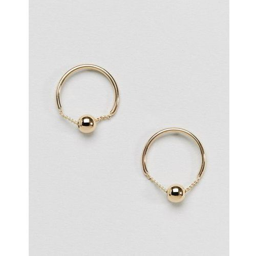 Pieces circle stud earrings - gold