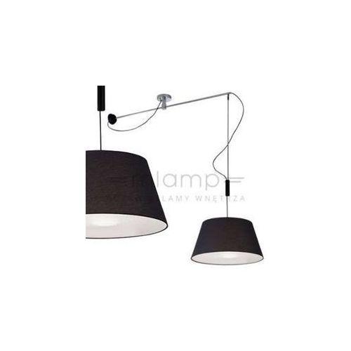LAMPA wisząca MALAGA MD2356-MA BK Azzardo abażurowa OPRAWA zwis na regulowanym wysięgniku czarny