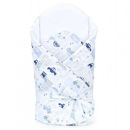 Bawełniany rożek niemowlęcy wiązany - autka niebieskie marki Mamo-tato