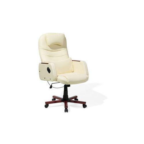 Beliani Krzesło biurowe beżowe captain (7105279746000)
