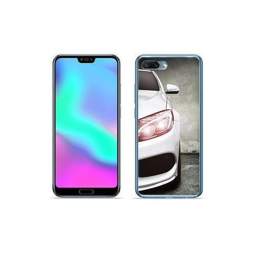 Huawei Honor 10 - etui na telefon Foto Case - biały samochód, kolor biały