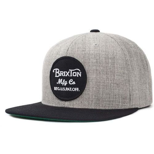 czapka z daszkiem BRIXTON - Wheeler Light Heather Grey/Black (0371) rozmiar: OS
