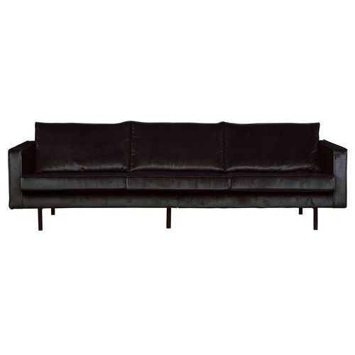 Be pure sofa rodeo 3-osobowa velvet czarna 800543-169