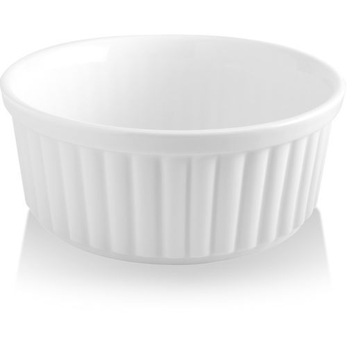 Naczynie do zapiekania okrągłe porcelanowe bianco marki Fine dine