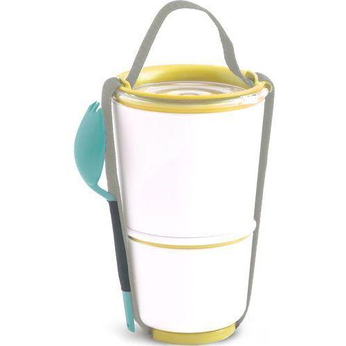 Black + blum Pojemnik obiadowy lunch pot black blum biało-żółty (bp012) (5060089724148)