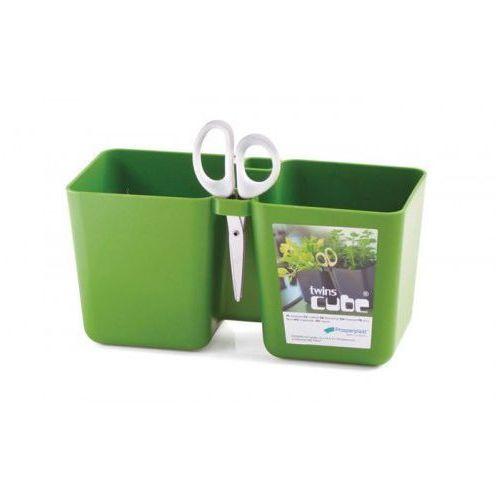 Doniczka na zioła Twins Cube Prosperplast : Kolor - Oliwka