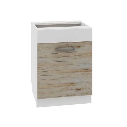 Szafka kuchenna cuba libre 60 cm biała/dąb bordeaux marki Layman