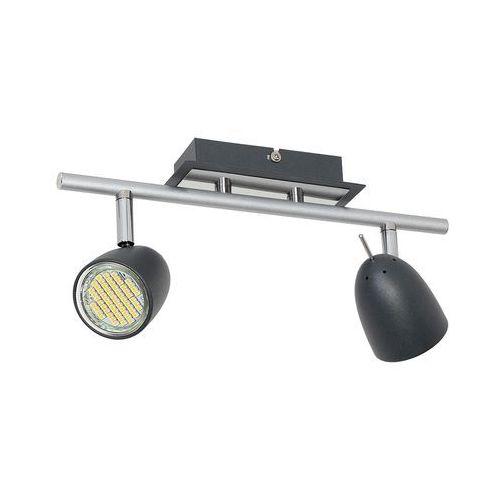 Plafon taylor 6496 spot lampa sufitowa 2x8w gu10 czarny / chrom marki Luminex