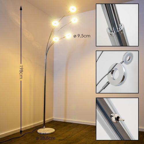 Trio rl rennes r42415106 lampa stojąca podłogowa 5x4w led chromowana/biała marki Reality