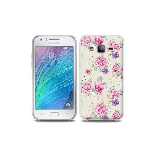 Samsung Galaxy J5 - etui na telefon Full Body Slim Fantastic - pastelowe różyczki, kolor różowy