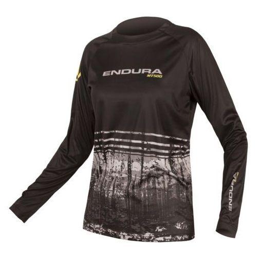 Koszulka z długim rękawem mt500 print ii czarny / płeć: damskie / rozmiar: m marki Endura