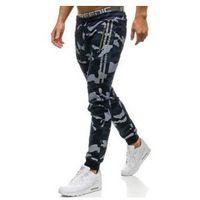 Spodnie męskie dresowe joggery granatowe Denley W1601