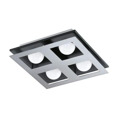 Plafon lampa sufitowa bellamonte 94233  metalowa oprawa led 13,2w kwadrat chrom czarny wyprodukowany przez Eglo