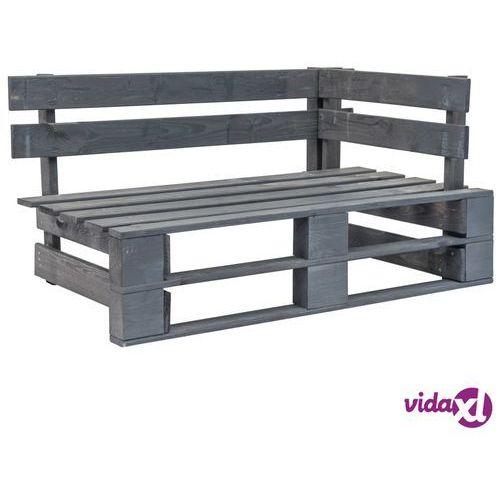 Vidaxl ogrodowa ławka narożna z palet, drewno fsc, szara (8718475717157)