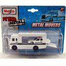 metal movers - ciężarówka transportowa policja + samochód marki Maisto
