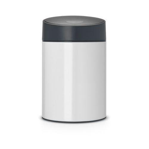 Brabantia - Kosz Slide Bin - pokrywa plastikowa – 5L - biały / pokrywa czarna
