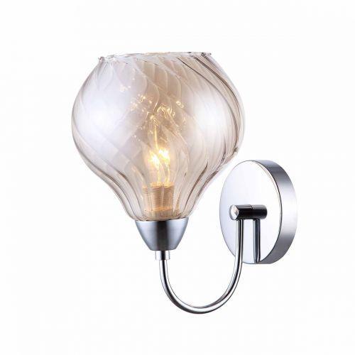 Kinkiet lampa ścienna temps mbm2171/1 b szklana oprawa nowoczesna chrom herbaciana marki Italux
