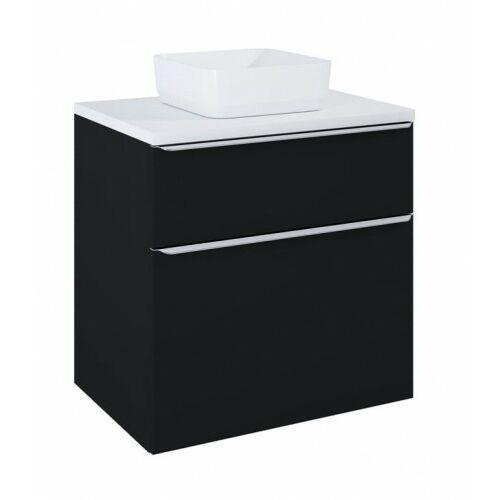ELITA szafka Lofty 70 black matt pod umywalkę nablatową + blat 70 white 168303+167034, kolor czarny