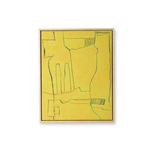 obraz brutalism żółty 40x50cm awd8915 marki Hkliving
