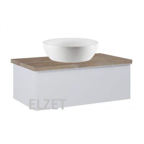 szafka look 1s stone matt pod umywalkę nablatową + blat 80 dąb classic 167595+166899 marki Elita
