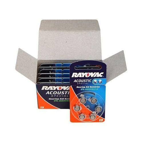 60 x baterie do aparatów słuchowych acoustic special 13 marki Rayovac