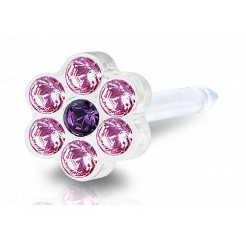 Blomdahl light rose / amethyst 5 mm