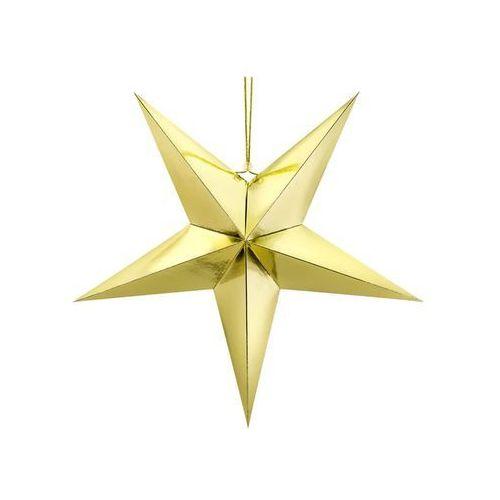 Dekoracja wisząca gwiazda papierowa srebrna - 70 cm marki Party deco