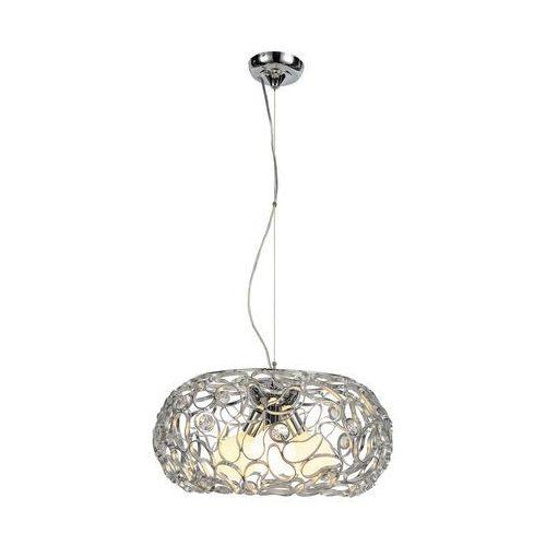 Lampa wisząca zwis oprawa Rabalux Dea 3X60W E27 srebrna 2887, kolor Srebrny