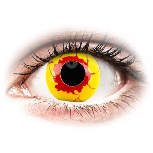 Maxvue vision Colourvue crazy lens - reignfire - jednodniowe zerówki (2 soczewki) (9555644855567)
