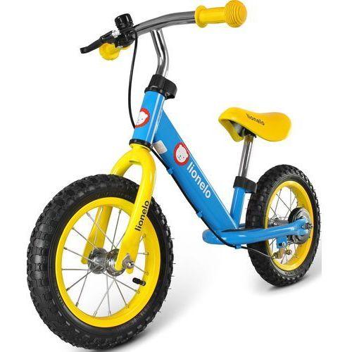 Rowerek biegowy  lo-dex z kaskiem i ochraniaczami niebieski + darmowy transport! marki Lionelo