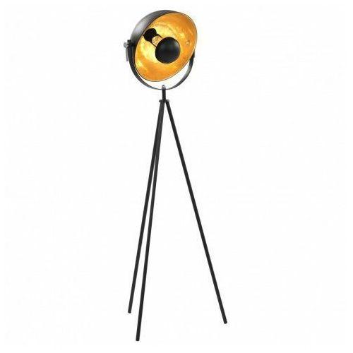 Czarno złota lampa stojąca z obrotowym kloszem - ex185-vonis marki Lumes