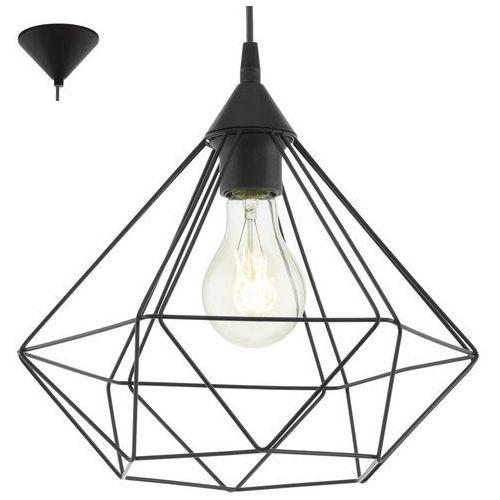 Lampa wisząca druciana Eglo Tarbes 1x60W E27 czarna 94188 + żarówka LED za 1 zł GRATIS! >>> RABATUJEMY do 20% KAŻDE zamówienie!!!, 94188