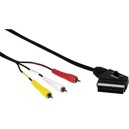 Kabel scart / cinch komponentowy 33712, [1x złącze męskie scart - 3x złącze męskie cinch], 2 m marki Vivanco