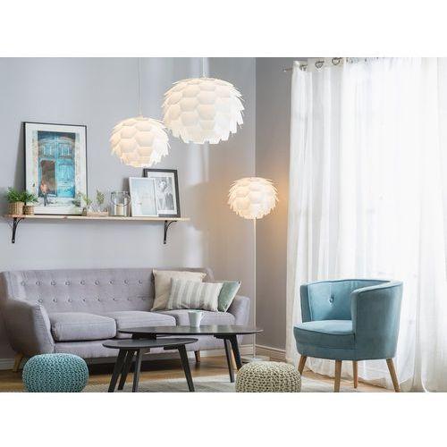 Beliani Lampa biała - sufitowa - żyrandol - lampa wisząca - segre duża (4260580939701)
