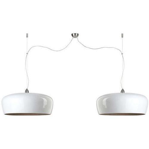 lampa wisząca bambusowa hanoi biała podwójna 60x25cm hanoi/h2/w marki It's about romi