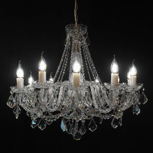 Żyrandol kryształowy 12-ramienny - Elite Bohemia, L 132/12/04 N