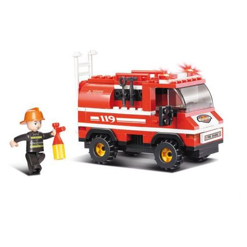 Sluban Fire mała ciężarówka strażacka M38-B0276