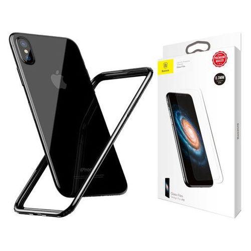 Etui Baseus bumper slim case iPhone X Czarne +Szkło Baseus 0.3, kolor czarny