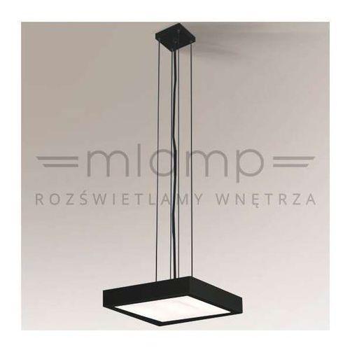 Minimalistyczna LAMPA wisząca NOMI 5541/2G11/CZ Shilo kwadratowa OPRAWA zwis czarny, 5541/2G11/CZ