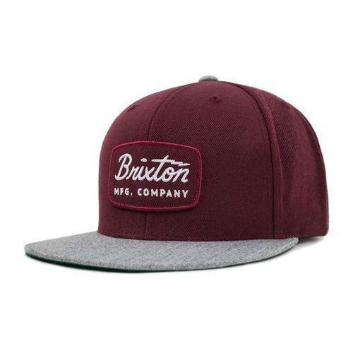 Brixton Czapka z daszkiem - jolt snapback heather grey/maroon (htgmr) rozmiar: os
