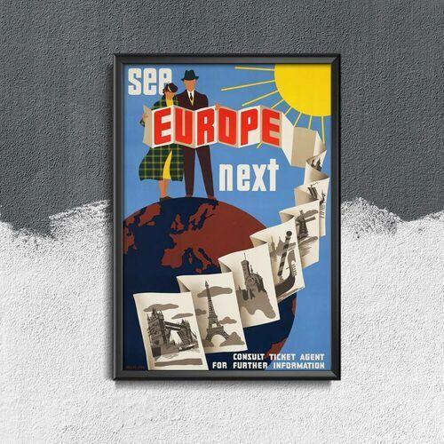 Plakat vintage plakat vintage europa marki Vintageposteria.pl